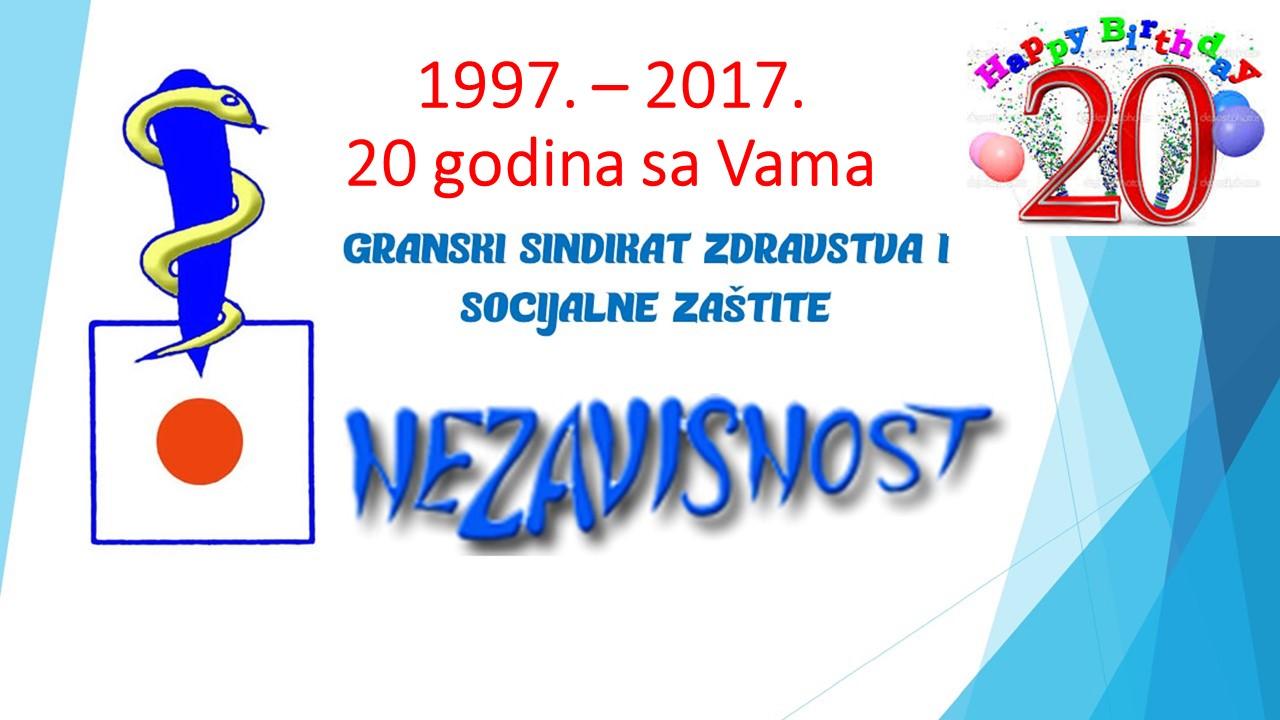 Slavimo 20 godina od osnivanja granskog sindikata