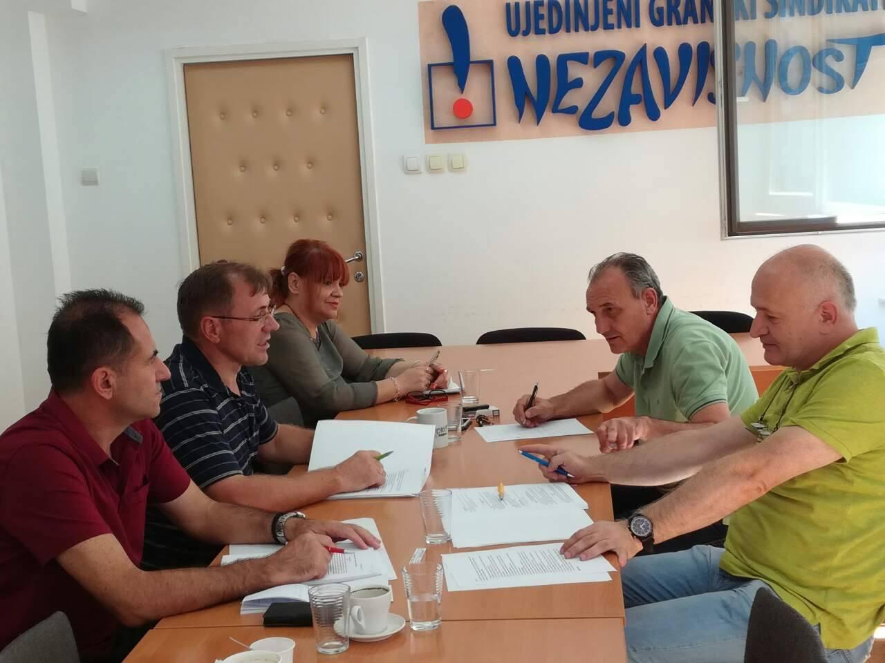 Održan pripremni sastanak radne grupe UGS NEZAVISNOST za pregovore o Zakonu o zaposlenima u javnim službama