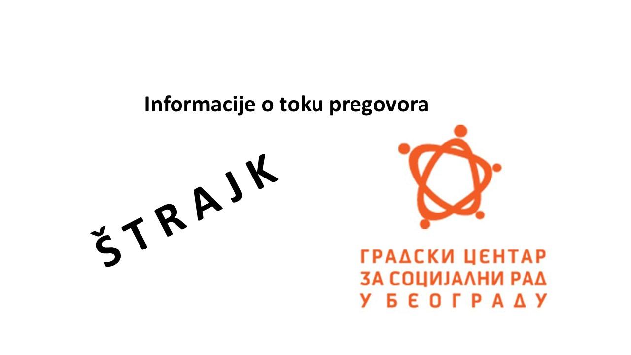 Nakon najave štrajka sindikata NEZAVISNOST Gradskog centra za socijalni rad Beograd usledili su razgovori za rešavanje štrajkačkih zahteva